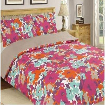 REVERSABLE/PLAIN King Duvet Cover Set Plain and Printed 10 Set