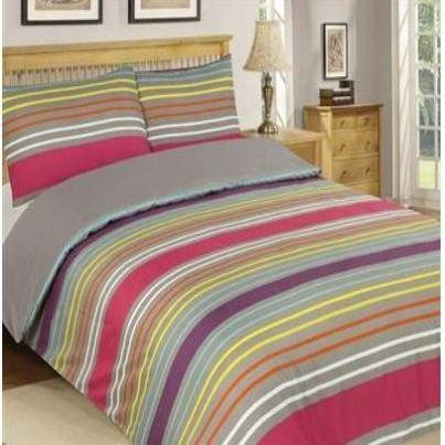 REVERSABLE/PLAIN Double Duvet Cover Set Plain and Printed Mix 10 Set