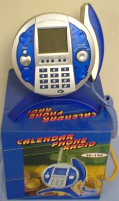 Telephone Radio with calendar 12 PCs/ Carton. (£2 each, minimum 2 Cartons)