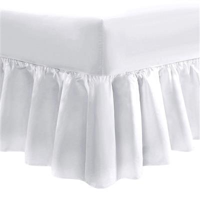 200 Thread Count 100% Cotton White Fitted Valance Sheets Super King 20pcs