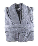 100% Cotton Terry Toweling Velour Shawl Collar Bathrobes: Free Sizes