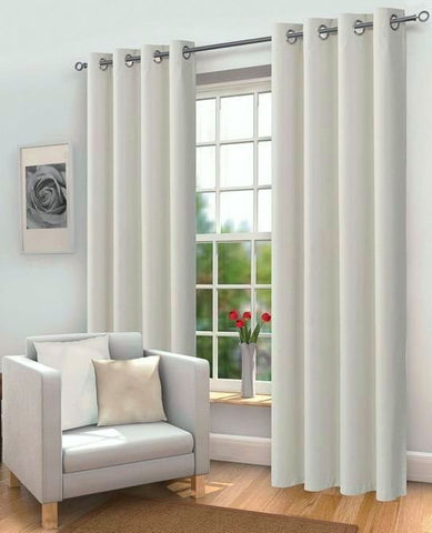 Plain Blackout EYELET Curtains with Tie Back