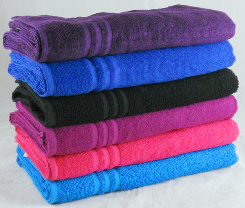 380GSM Plain Color Bath Sheet 24 PCs