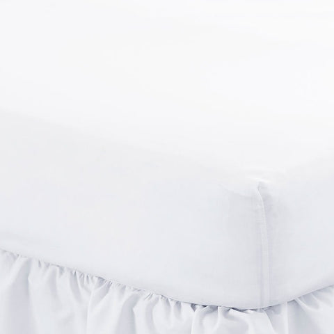 200 Thread Count Cotton Percale White King Size Fitted Sheets 20 PCs
