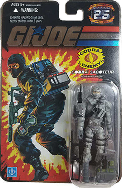 G.I. Joe 25th Anniversary Action Figure | Cobra Saboteur Firefly | MiP