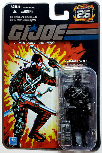 G.I. Joe | 25th Anniversary (Hasbro, 2008) | Commando Snake Eyes | MiP