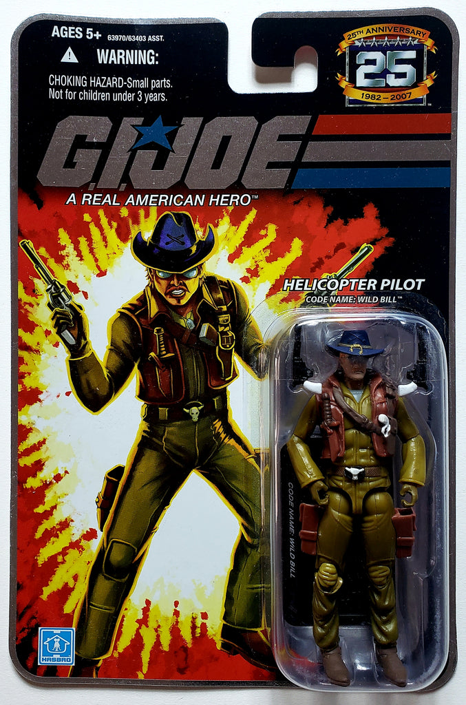 G.I. Joe | 25th Anniversary (Hasbro, 2008) | Helicopter Pilot, Wild Bill | MiP