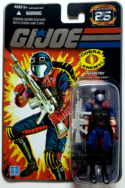 G.I. Joe | 25th Anniversary (Hasbro, 2008) | Cobra Viper, Infantry | MiP