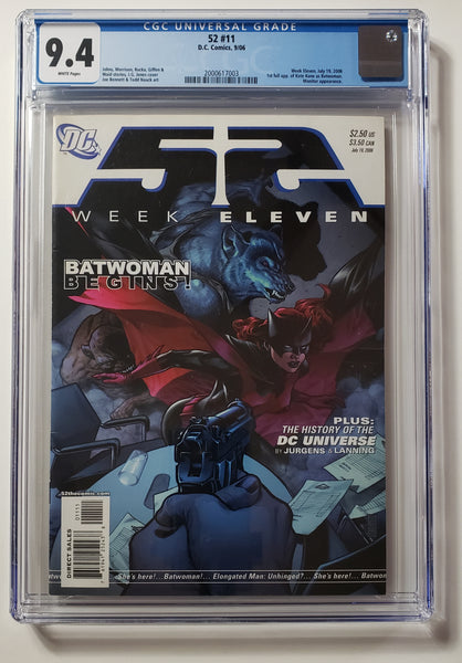 52 #11 (DC, 2006), 1st Kate Kane as Batwoman, CGC 9.4, New CW Arrowverse Show