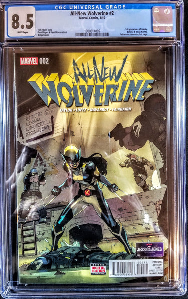 All-New Wolverine #2 (Marvel, 2016), 1st Appearance Gabby Kinney, CGC 8.5