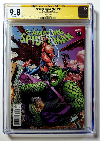 Amazing Spider-Man #798 (Marvel, 2018), CGC 9.8, 1st Red Goblin, Signed by Ramos