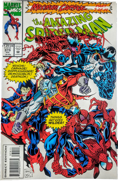 Amazing Spider-man #379 (Marvel, 1993), Maximum Carnage, 7 of 14, Venom, Carnage