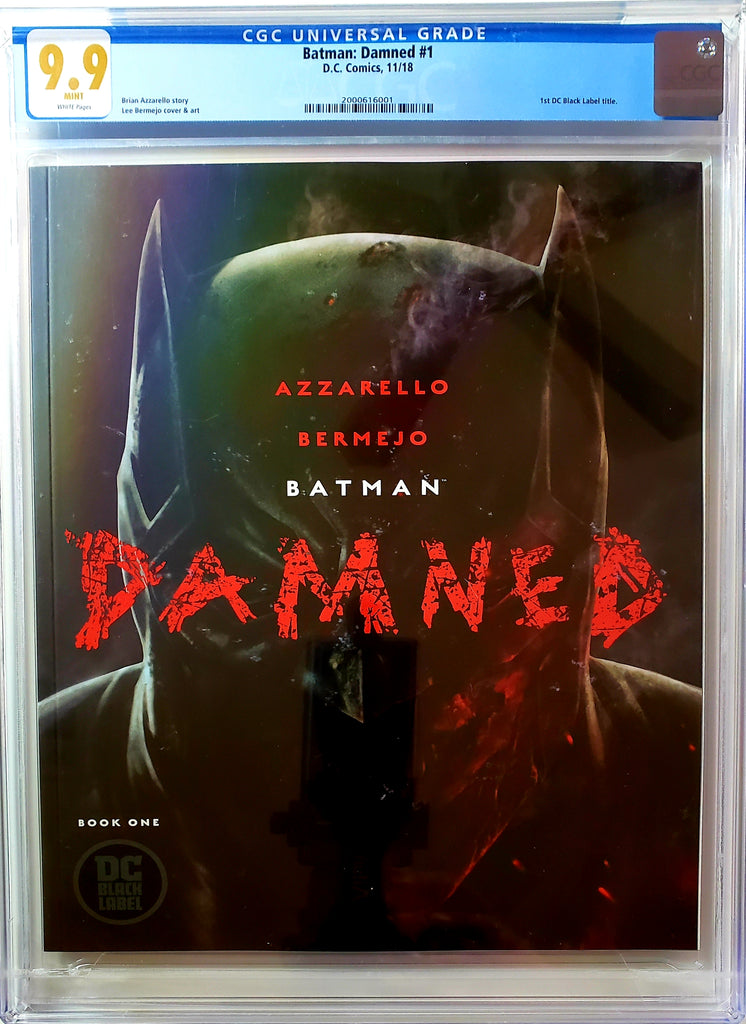 Batman Damned #1 (DC Black Label, 2018), CGC 9.9, Batman Nudity, HOT, SOLD OUT