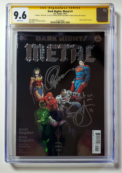 Dark Nights Metal #1 (DC, 2017) Lee Cover A, CGC SS 9.6, Capullo & Snyder Signed