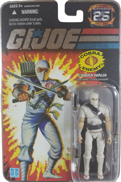 G.I. Joe 25th Anniversary Action Figure | Cobra Ninja Storm Shadow | MiP