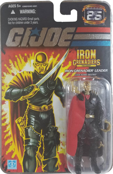 G.I. Joe 25th Anniversary Action Figure | Iron Grenadier Leader Destro | MiP