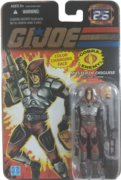 G.I. Joe 25th Anniversary Action Figure | Master of Disguise Zartan | MiP