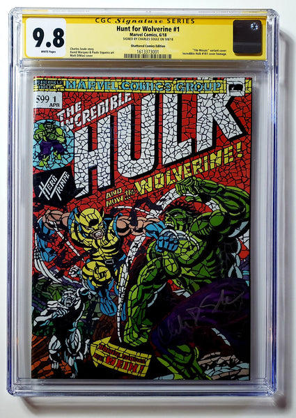Hunt for Wolverine #1 (Marvel 2018) CGC SS 9.8 Shattered Variant Signed by Soule