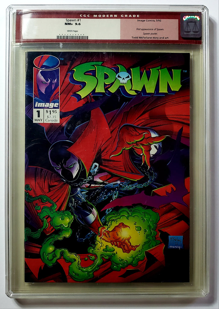 Spawn #1 (Image, 1992) CGC 9.6 Rare Modern Grade Red Label White Pages NEW MOVIE