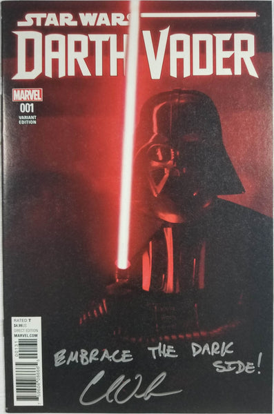 Star Wars: Darth Vader #1 (Marvel, 2015) Movie Variant, Signed by Charles Soule
