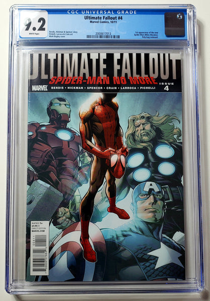 Ultimate Fallout #4 (Marvel, 2011), Miles Morales 1st Appearance, CGC 9.2, HOT!!