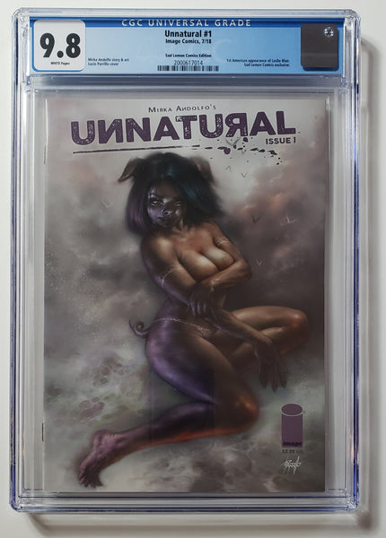 Unnatural #1 (Image, 2018), Lucio Parrillo Sad Lemon Trade Dress, CGC 9.8, HOT!!