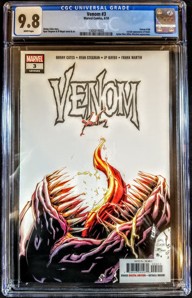 Venom #3 (Marvel, 2018), 1st Appearance Knull, Donny Cates, CGC 9.8, NM, HOT!!!