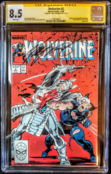 Wolverine #2 (Marvel, 1988), CGC SS 8.5, Signed by Chris Claremont, VERY RARE!!!