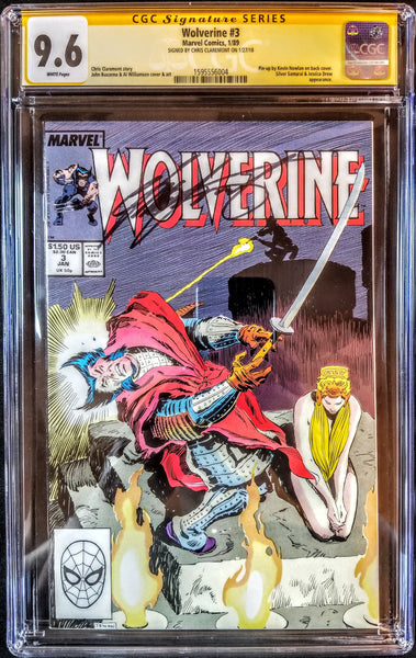 Wolverine #3 (Marvel, 1988), CGC SS 9.6, Signed by Chris Claremont, VERY RARE!!!