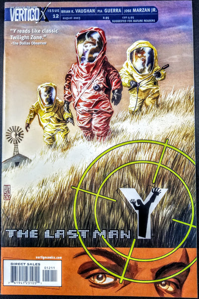 Y THE LAST MAN #12 (DC/Vertigo, 2002), 1st Print, Brian K Vaughn, New FX Series!