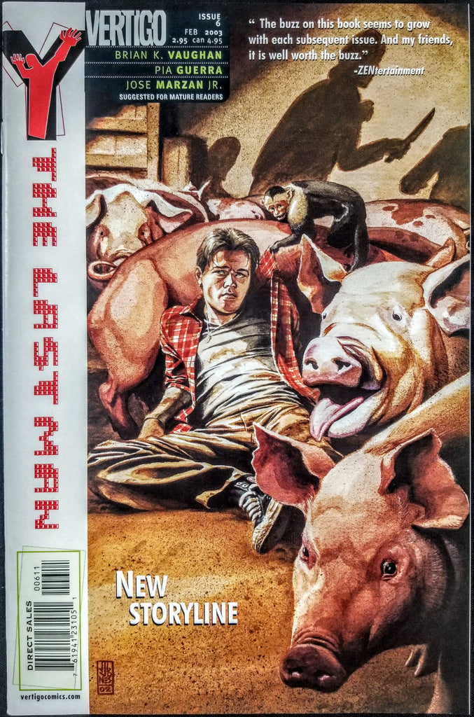 Y: THE LAST MAN #6 (DC/Vertigo, 2002), 1st Print, Brian K Vaughn, New FX Series!