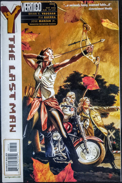 Y: THE LAST MAN #7 (DC/Vertigo, 2002), 1st Print, Brian K Vaughn, New FX Series!