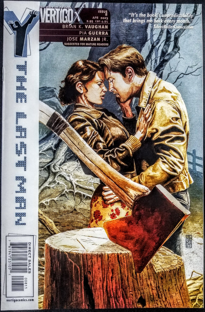 Y: THE LAST MAN #8 (DC/Vertigo, 2002), 1st Print, Brian K Vaughn, New FX Series!