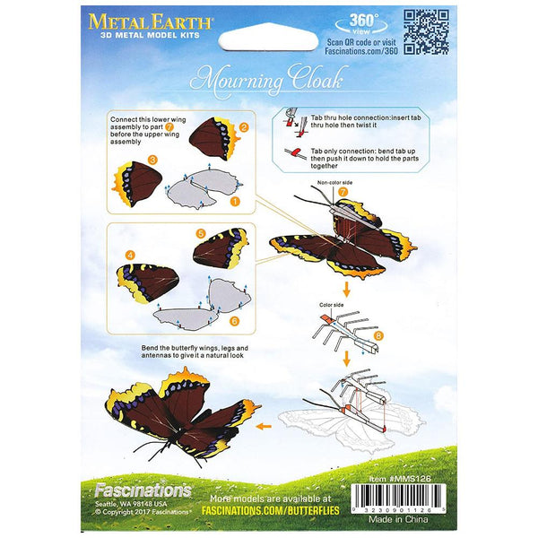 Metal Earth Model Kit - Mourning Cloak