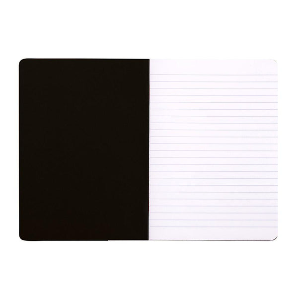 Midoco.ca: Rhodia A5 Side-Stapled Ruled Notebook - Black