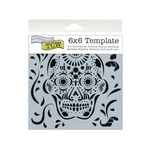 The Crafters Workshop Skull Stencil
