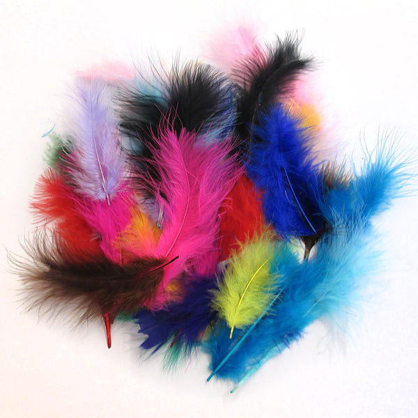 Midoco.ca: Natural Marabou Feathers 5grams