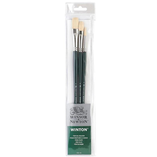 Winsor & Newton Winton Bristle Brush Set 3pk