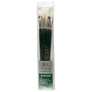 Winsor & Newton Winton Bristle Brush Set 5pk