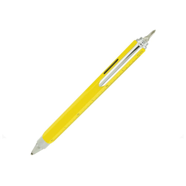 Montverde Ballpoint 9 Function Tool Pen Yellow