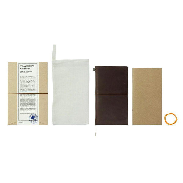 Midori Leather Traveler's Notebook - Brown