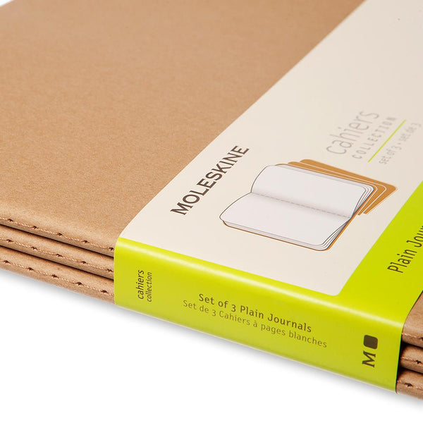 Moleskine Unlined Cahier XXL 3-Pack - Kraft