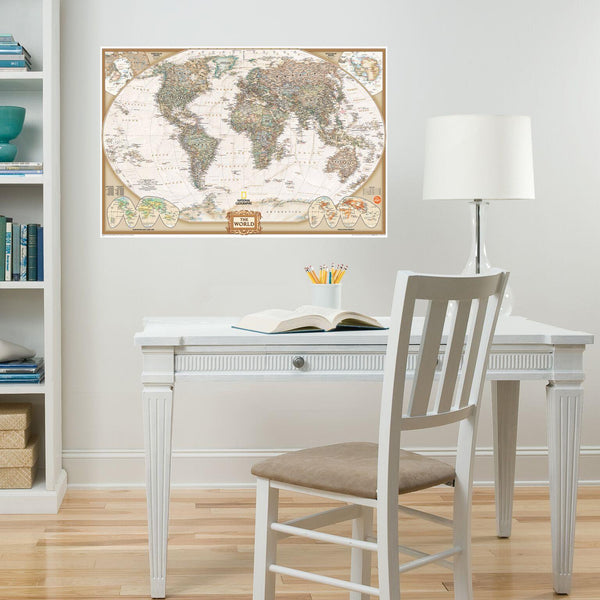 Midoco.ca: Wallpops Dry Erase Old-World Map National Geographic