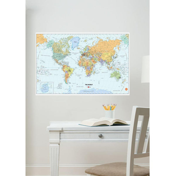 Midoco.ca: Wallpops Dry Erase World Map