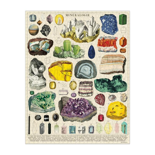 Cavallini 1000pc Puzzle - Mineralogy