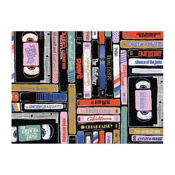 Galison 1000pc Puzzle - VHS Tapes