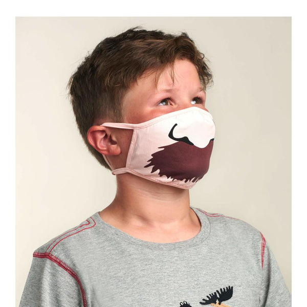 Little Blue House Youth Moustache Face Mask