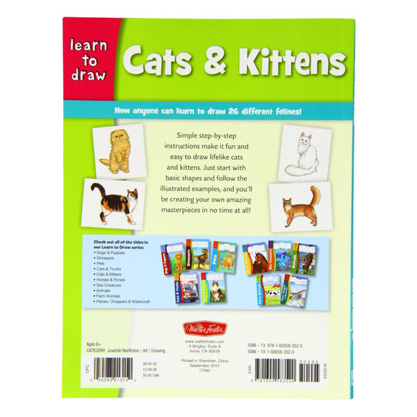 Learn to Draw Cats & Kittens Book by Diana Fisher
