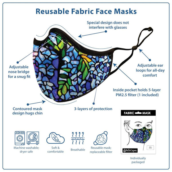 midoco.ca: Edenborough Face Mask Tiffany Wisteria