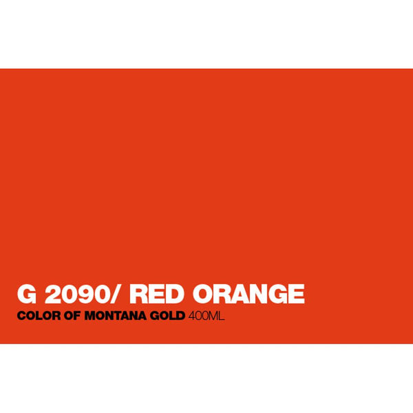 Montana Gold 400mL Spray Paint - Red Orange